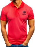 Tricou polo bărbați roșu Bolf 5773