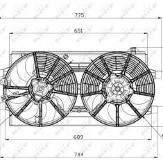 Ventilator radiator NISSAN LEAF Electric dupa 2010