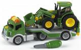 Set de constructie trailer cu tractor John Deere - Set de indemanare, Klein