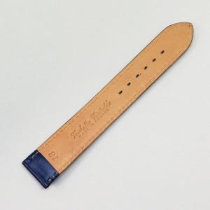 Curea de ceas din piele naturala albastra - 16mm, 18mm - C2990