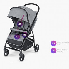 Carucior sport Baby Design Sway 17 Graphite 2019