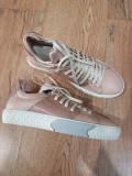 Pantofi/Tenisi dama noi piele naturala integral roz pudra comozi / 37 si 38
