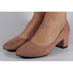 Pantofi office roz cu toc (cod Y89)