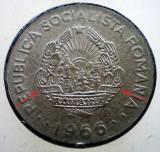 R.099 ROMANIA RSR 1 LEU 1966 VARIANTA RARA