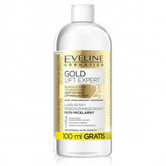 Apa micelara anti-rid, Eveline Cosmetics, Gold Lift Expert 3IN1, 500 ml