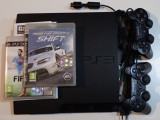 Consola Sony PlayStation 3 PS3 Slim 320Gb 2 Gamepad NFS auto FIFA fotbal