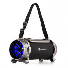 Auna BLASTER S, difuzor BT, micro SD, 15 W, RMS, AUX, FM, IPX4, protecție împotriva stropirii cu apă