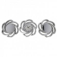 Set Ceas de Perete cu Doua Oglinzi Decorative Grunberg KLJ2930 Gri