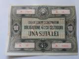 Romania -Obligatiune 100 lei -RPR-Stare f buna
