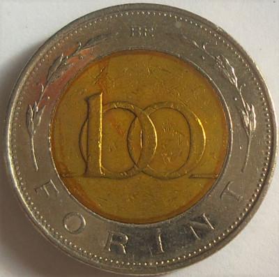 Moneda bimetal 100 FORINTI - UNGARIA, anul 1998 *cod 2314 foto