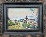 Peisaj cu case - semnat  Ernst Iosif, Peisaje, Acuarela, Altul