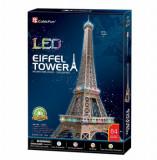 Cumpara ieftin Puzzle 3D Led - Turnul Eiffel, 82 piese, CubicFun