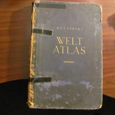 "PVM - ""Ullsteins Welt Atlas 1923"" / Atlasul Lumii / format mare / limba germana"