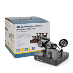 Aproape nou: Kit supraveghere video PNI House PTZ1100 - DVR si 4 camere exterior 10