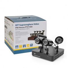 Resigilat : Kit supraveghere video PNI House PTZ1100 - DVR si 4 camere exterior 10