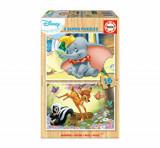 Puzzle Disney Animals Dumbo+Bambi, 2 x 16 piese, Educa