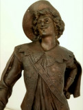 Statuie sec. 19, Sculptura veche franceza, Muschetar, semnata