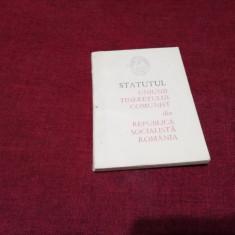 STATUTUL UNIUNII TINERETULUI COMUNIST DIN RSR 1966