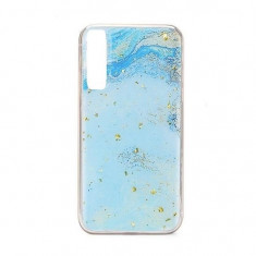 Husa Samsung Galaxy A70 iberry Marble Glitter Jade, Carcasa
