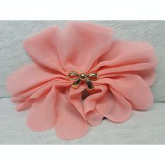 Elastic par tip floare, cu fundita din plastic, culoare roz