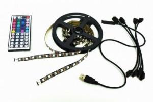 Kit banda LED RGB Lumina ambientala TV Monitor Mobilier
