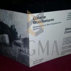 PLIANT EXPOZITIE - ALEXANDRU CIUCURENCU - GALERIA WALCHETURM - ZURICH, 1965