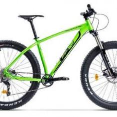 Bicicleta Pegas Drumuri Grele Pro L, Cadru 18inch, Roti 27.5inch, 10 Viteze (Verde)