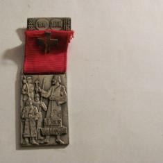 """Medalie Elvetia """"Sfantul Niklaus de la Flue"""" patronul Elvetiei / gravor Huguenin"""