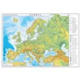 Europa. Harta fizica si politica /Harta de contur (verso), 600x470 mm (GHEF60)