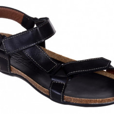Sandale din Piele Barbatesti Pepe Agullo Spania, 44, 45, Negru, Sandaleromane