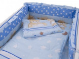 Lenjerie patut bebe Teddy Hug Blue 4+1 Piese 120x60