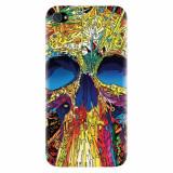 Husa silicon pentru Apple Iphone 4 / 4S, Abstract Multicolored Skull