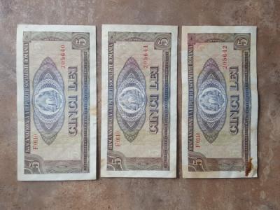 Bancnota 5 Lei 1966 foto