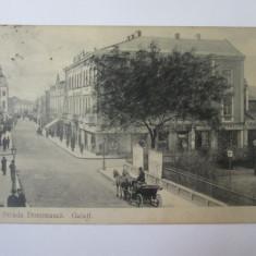 Carte postala Galati-Strada Domneasca circulata cca 1904