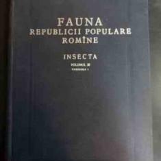 Fauna Republicii Populare Romine Insecta Vol Xi - Colectiv ,546760