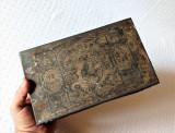 Cutie veche tutun Regia Monopolului Statului 1898, cutie tutun perioada Carol I