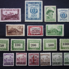 Timbre Ungaria Lajtabansag 1921- 1922, Nestampilat