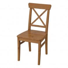 Scaun lemn pentru bucatarie, inaltime 91 cm, Maro