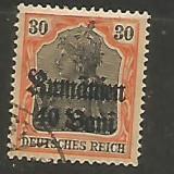 No(09)timbre-GERMANIA 1917 supratipar, Stampilat
