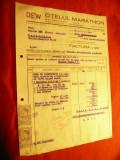 Factura cu Antet Firma DEW -Otelul Marathon 1943 Bucuresti ,cu 2 Timbre Fiscale