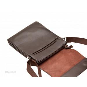 Geanta unisex piele Casual Office (Maro) - 27 x 22 cm - Borseta tableta