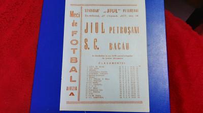 program Jiul - SC Bacau foto
