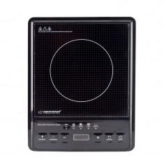 Plita inductie, 2000W, 5 functii pentru gatit, LCD mare, Esperanza, negru