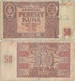 1941 ( 26 V ), 50 kuna ( P-1 ) - Croația