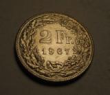 Elvetia 2 Franci 1967 UNC