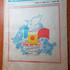 revista radio-tv saptamana 28 decembrie 1986-3 ianuarie 1987-numar de anul nou