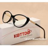 Rame ochelari de vedere stil cet eye cu lentile clare, Rotunda
