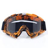 Ochelari unisex ski, snowboard, rama portocalie - lentila transparenta, O3PT