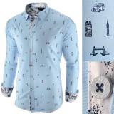 Cumpara ieftin Camasa pentru barbati, albastru deschis, slim fit, casual - London Town Cool, 3XL, L, M, XXL