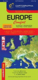 Harta rutiera laminata Europa |